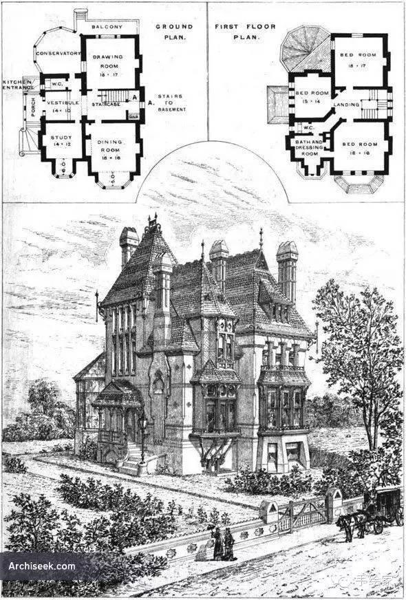 百年经典建筑设计手绘图_19