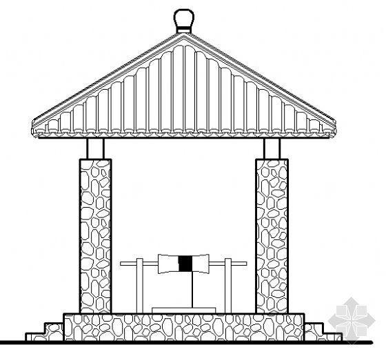 某四角亭建筑方案图