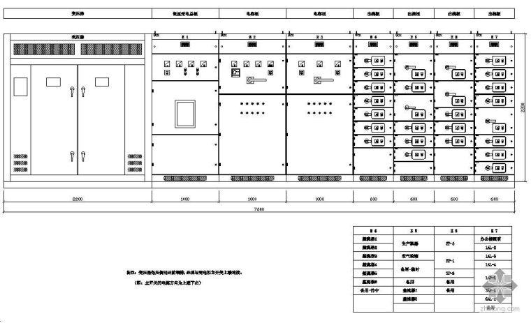 ups配电柜配线图资料下载-某工程GGD配电柜图详图