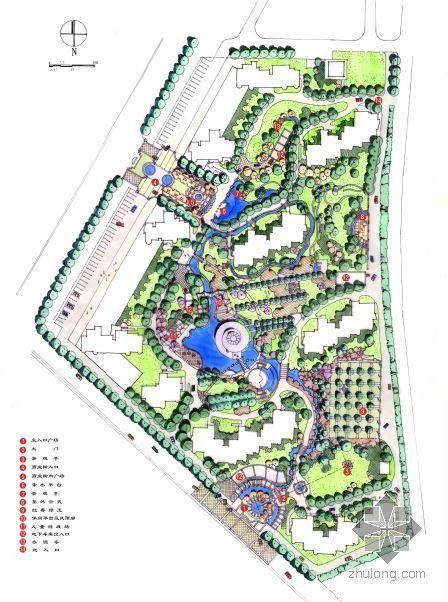 北京高档小区景观设计方案资料下载-北京高档小区景观设计方案文本