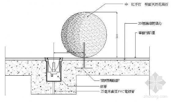 球形雕塑大樣圖