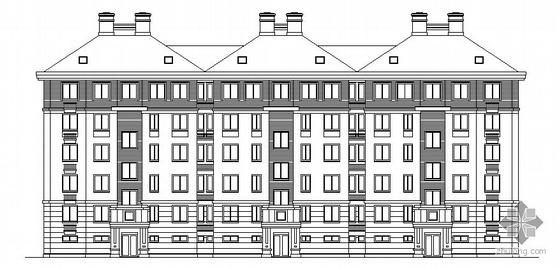 江苏省某小区五层住宅楼建筑施工图