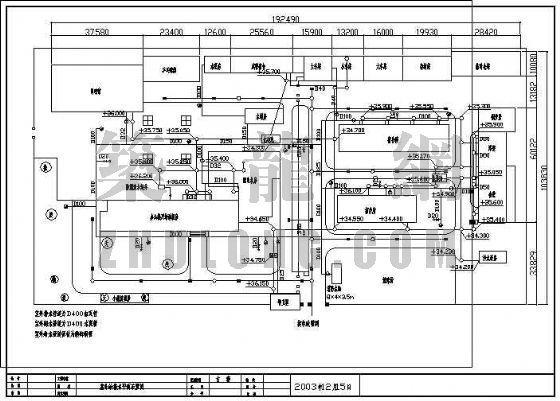 某电台给排水改造工程室外给排水平面布置图