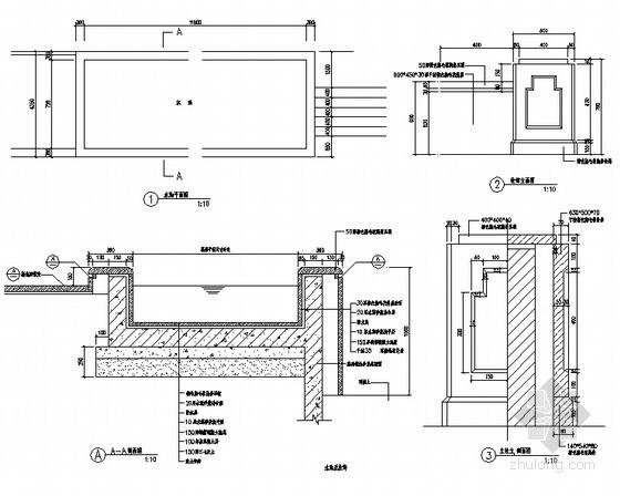 方形水池施工详图