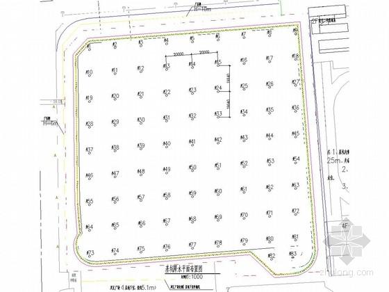 [河南]12米深基坑土钉墙及桩锚支护及管井降水施工图