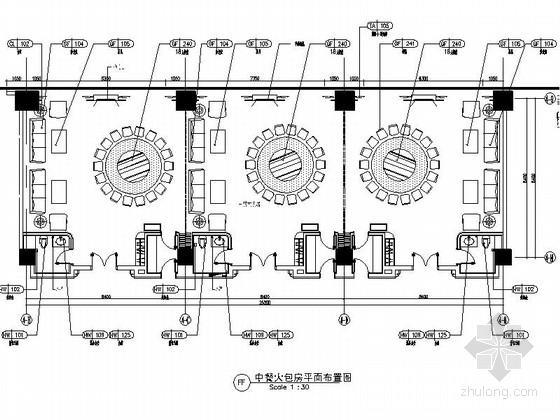 [北京]现代风格餐厅包房装修施工图(含效果)