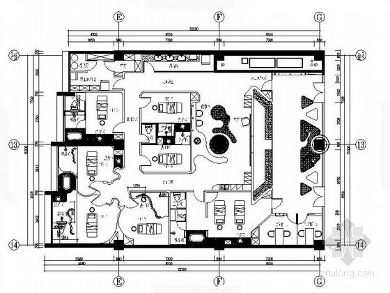 vip休息室平面图资料下载-[北京]首都高级时尚美容院室内装修施工图(电气及暖通图)