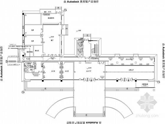 十层办公楼弱电平面图纸