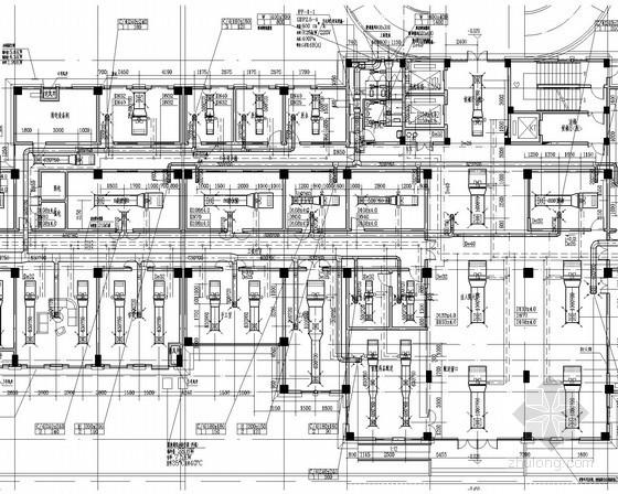 [江西]卫生中心医院住院楼空调通风系统设计施工图(风冷热泵)