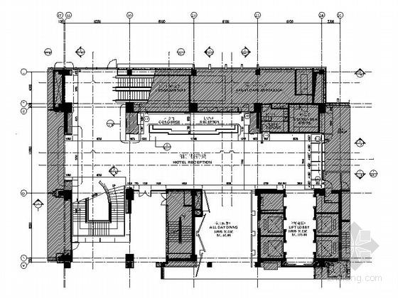 [上海]现代豪华酒店大堂区CAD施工图