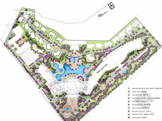 [吉林]意大利台地风格五星级度假酒店景观规划设计方案