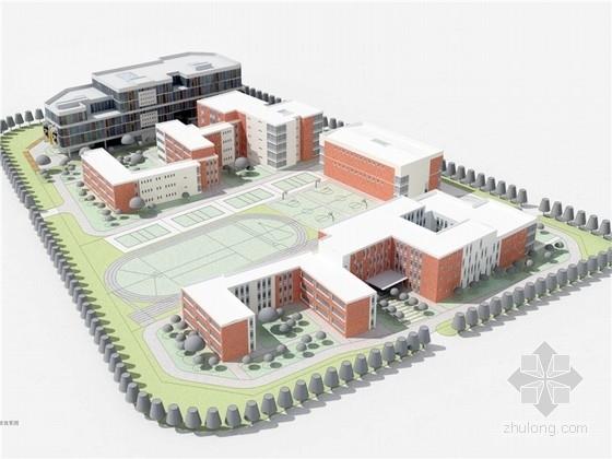 [北京]42班庭院式中小学建筑设计方案图