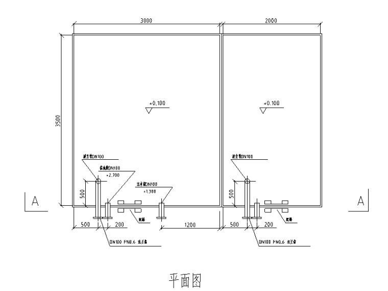 [北京]办公楼中水回用水处理施工图设计(CAD)