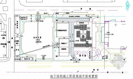 大厦工程施工现场平面布置图(基础、结构、装修)