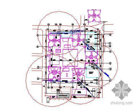 某住宅楼群塔平面布置图及施工详图