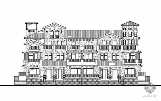 [惠州]某四层联排别墅建筑施工图