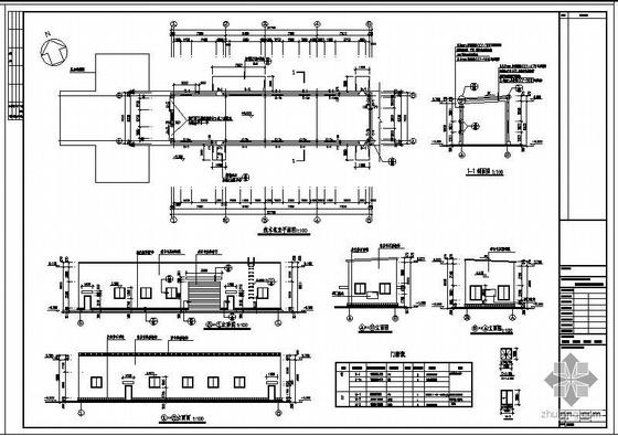 满洲某木材加工基地选木机室钢结构设计图