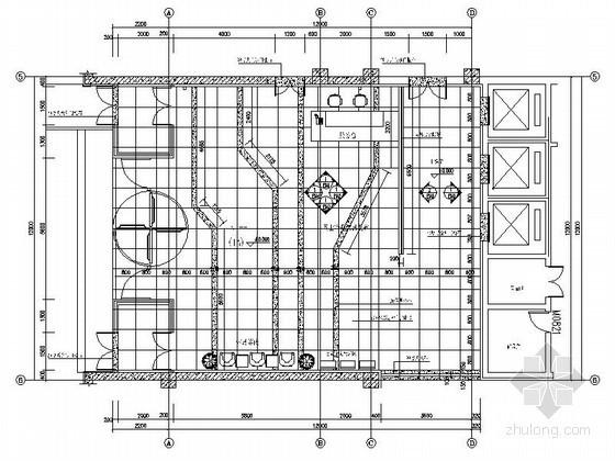 某办公楼141平方入口大厅装修图