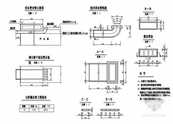 10米简支空心板泄水管节点详图设计