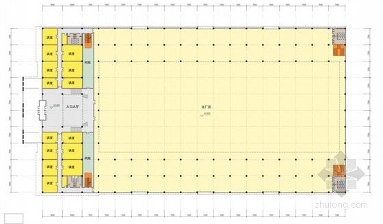 [江苏]方形天窗屋面办公楼规划建筑设计方案文本(含CAD)-方形天窗屋面办公楼规划建筑平面图