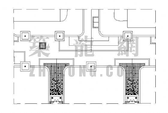 居住区铺装平面图(27)