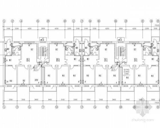 住宅建筑散热器采暖系统设计施工图(含给排水)