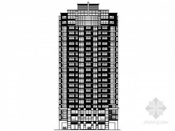 [上海]某二十一层一梯三住宅建筑方案图(9号楼)