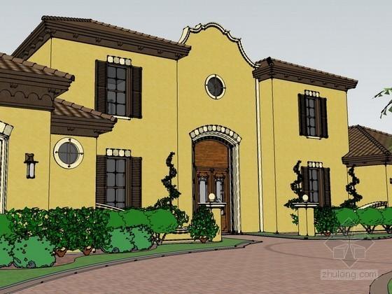 西式风格豪华别墅sketchup模型