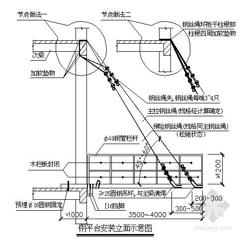 悬挑式卸料钢平台施工质量控制要点