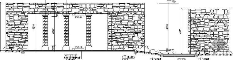 小区特色景墙施工详图_1