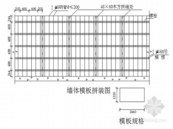 [安徽]框剪结构综合公寓模板工程施工方案(竹胶板)