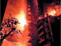 寧波中山首府外墻腳手架夜間燃起大火