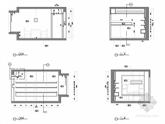 [上海]标准层三居室样板房装修施工图(含实景效果图)立面图
