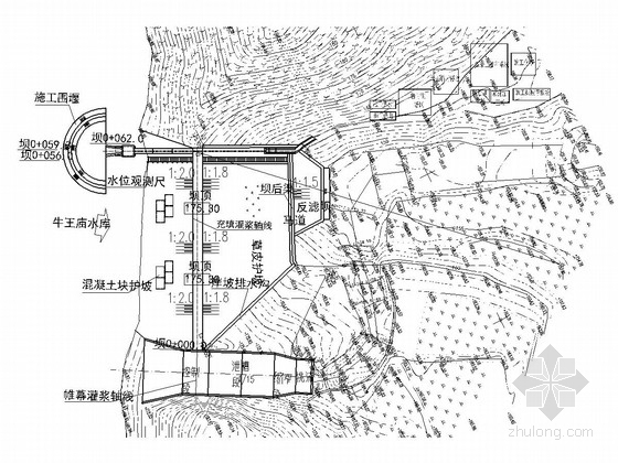 [湖北]小型病险水库大坝加固工程施工图