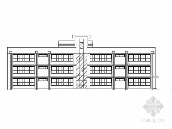 六班三层现代风格幼儿园建筑施工图