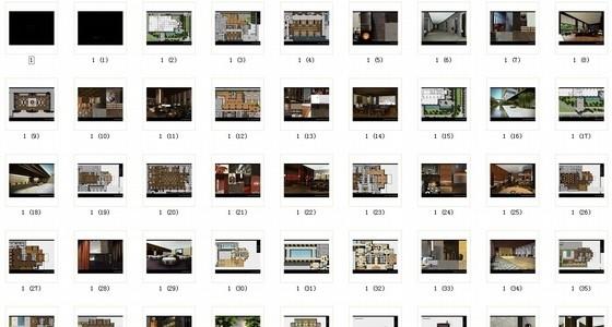 [武汉]特色奢华五星级度假酒店设计概念方案图资料图纸总缩略图