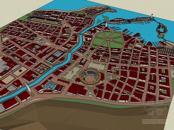住宅区SketchUp模型下载