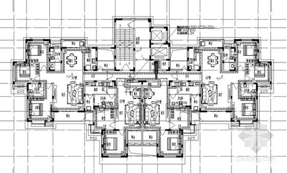 [河南]高层商业住宅楼采暖通风系统设计施工图