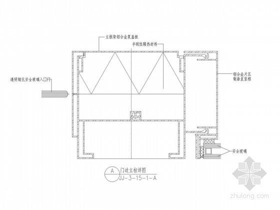 [江苏]超高层酒店门边立柱节点详图