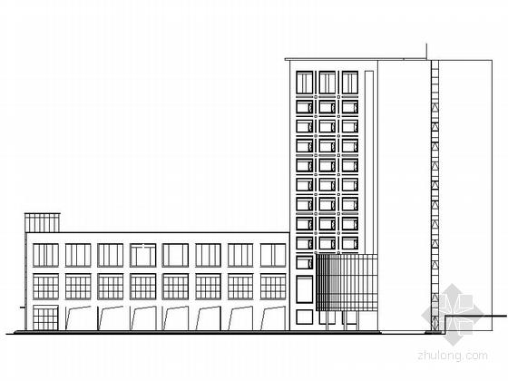 [四川]现代风格高层商务酒店建筑设计方案图-现代风格高层商务酒店建筑立面图