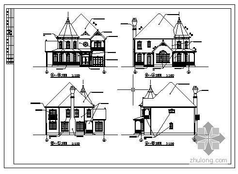 某两层欧式建筑结构全套图纸