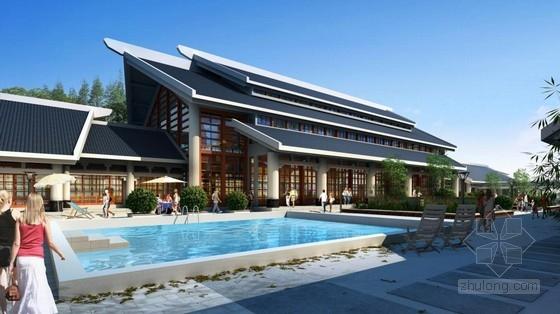 [武汉]两层场所中式风格高档接待传统休闲中心想买个做室内设计用的笔记本图片