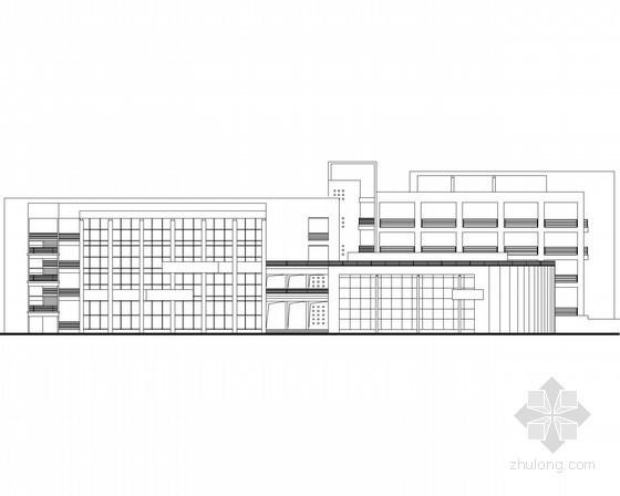 [广东]某医学院四层学生活动中心建筑施工图