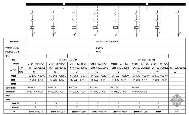 u型生产线布局图资料下载-某氯化石蜡生产线工程配电系统图
