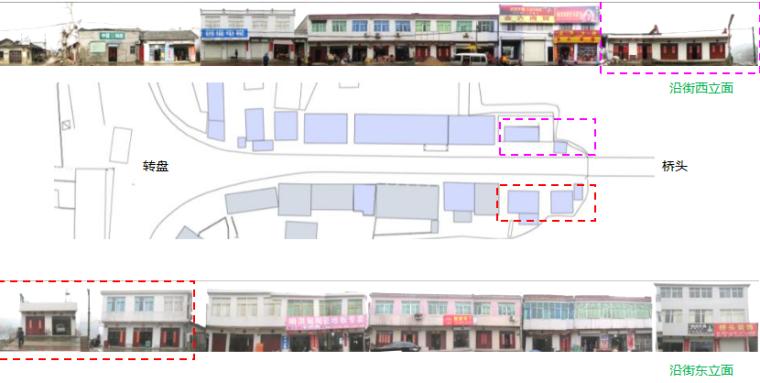村庄入口商业街道总平面图