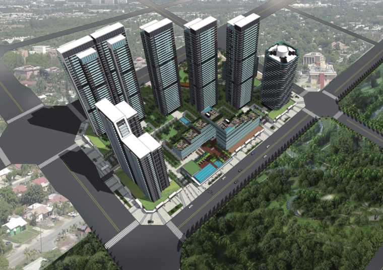 [广州]别致立面一梯一户高层住宅建筑设计方案文本(含SU、CAD)_1