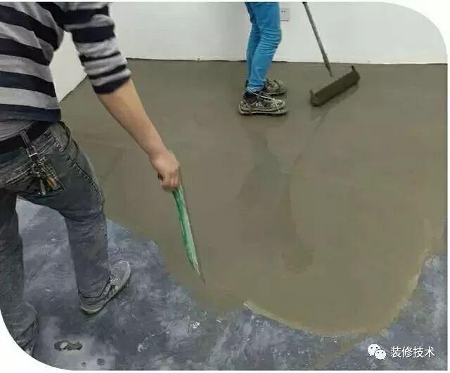 地面水泥砂浆、自流平找平施工流程