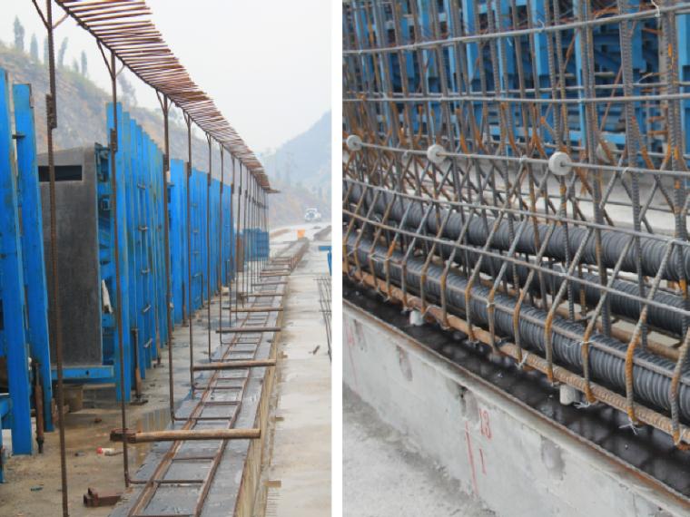 [贵州]大跨度连续刚构桥预支架法绑扎预制T梁腹板钢筋技术应用
