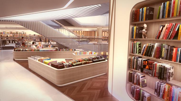 荷兰UNStudio商场中心设计施工图丨附效果图+机电设计+标识设计-08