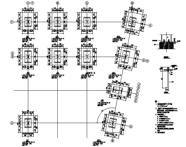 鹏翔岗石有限公司A栋门式钢屋架扩建厂房(CAD,15张)
